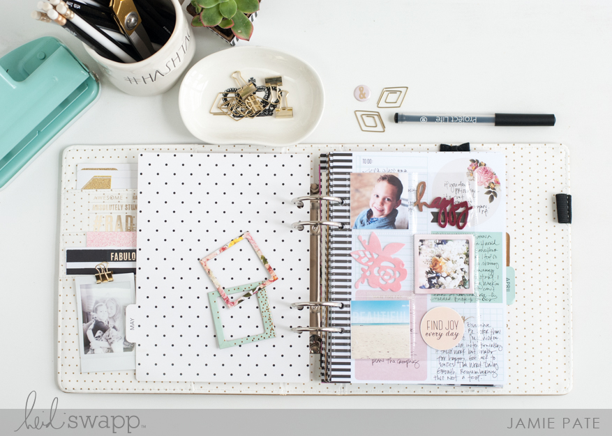 5 Ways To Add Photos to Your Memory Planner | @jamiepate for @heidiswapp