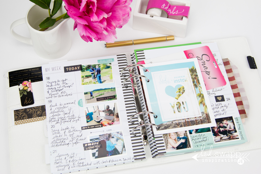 Finished @heidiswapp Memory Planner Pages by @createoften