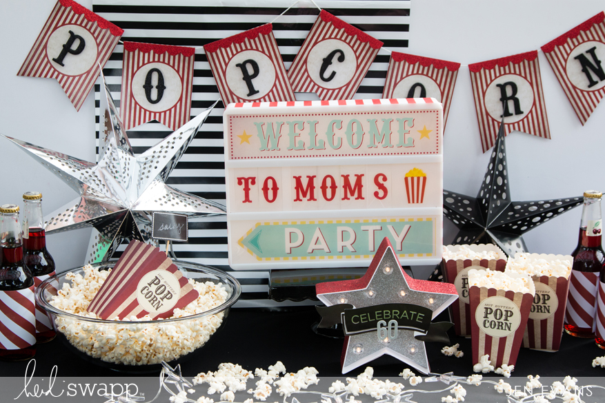 Popcorn birthday party by @createoften for @heidiswapp