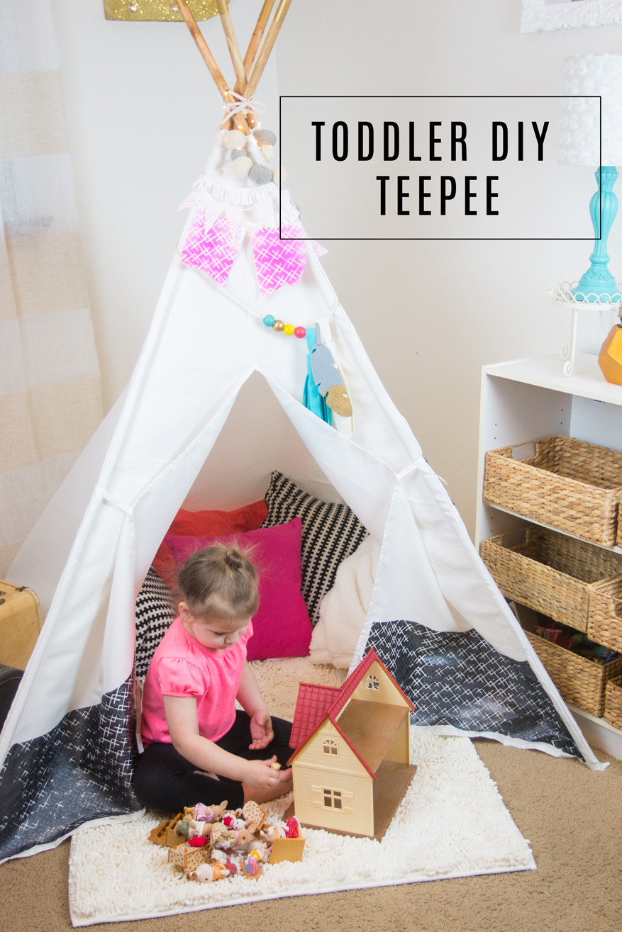 DIY Toddler TeePee room makeover by @createoften for @heidiswapp