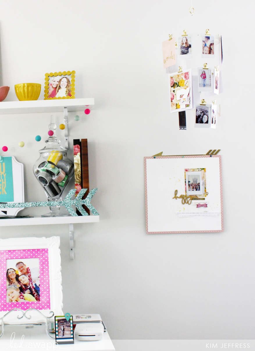 Easy and Classy Project Display ideas @kimjeffress for @heidiswapp
