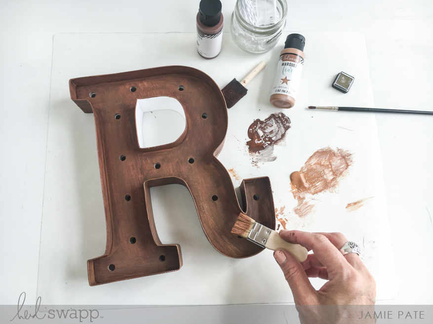 Distress Marquee Love with Rust Kit | @jamiepate for @heidiswapp