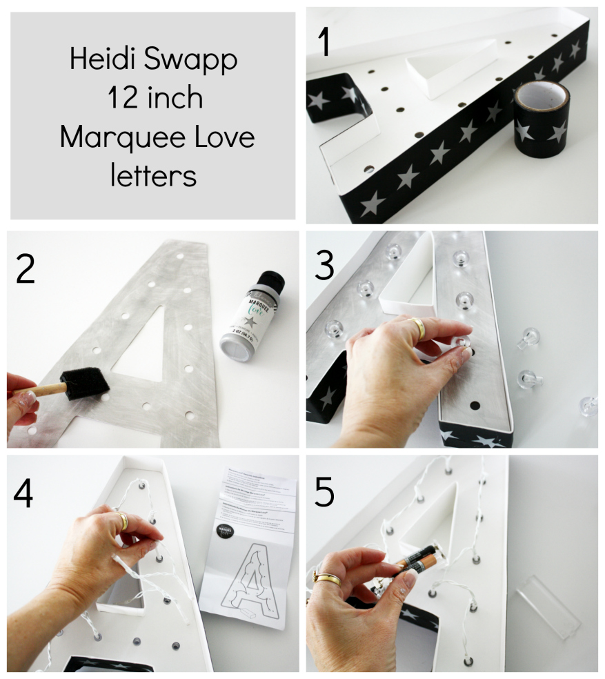 Heidi Swapp Marquee Love 12 inch letter tutorial