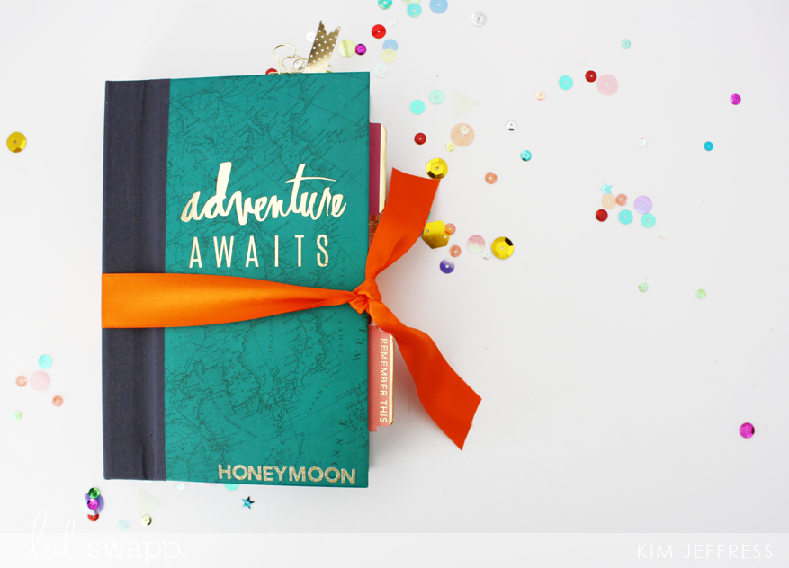 Adventure awaits travel book @kimjeffress for @heidiiswapp