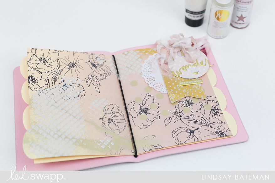 Mixed Media Art Journal Layering Tutorial @lindsaybateman for @heidiswapp