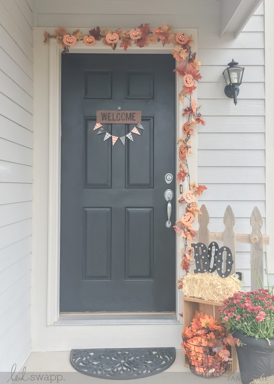Seasonal Porch in Lights with Heidi Swapp Halloween Marquee Love by Jamie Pate | @jamiepate for @heidiswapp