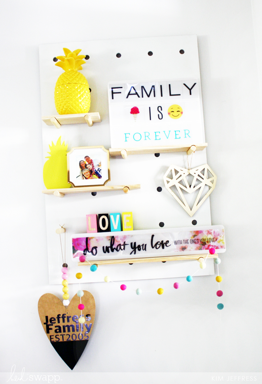 Kim Jeffress for Heidi Swapp Minc hanging art tutorial