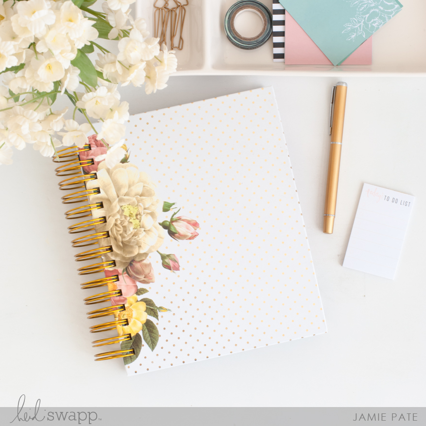 Plan all the things with Heidi Swapp Floral Planner by Jamie Pate | @jamiepate for @heidiswapp