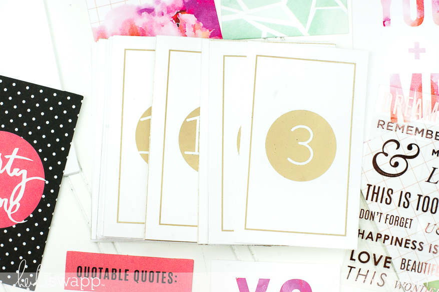 Put together a quick & easy November Gratitude Album with Heidi Swapp's new InstaLove Collection | @MaggieWMassey for @HeidiSwapp