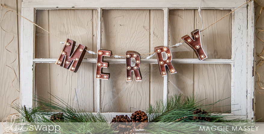 "MERRY 4"" Marquee Love Banner 