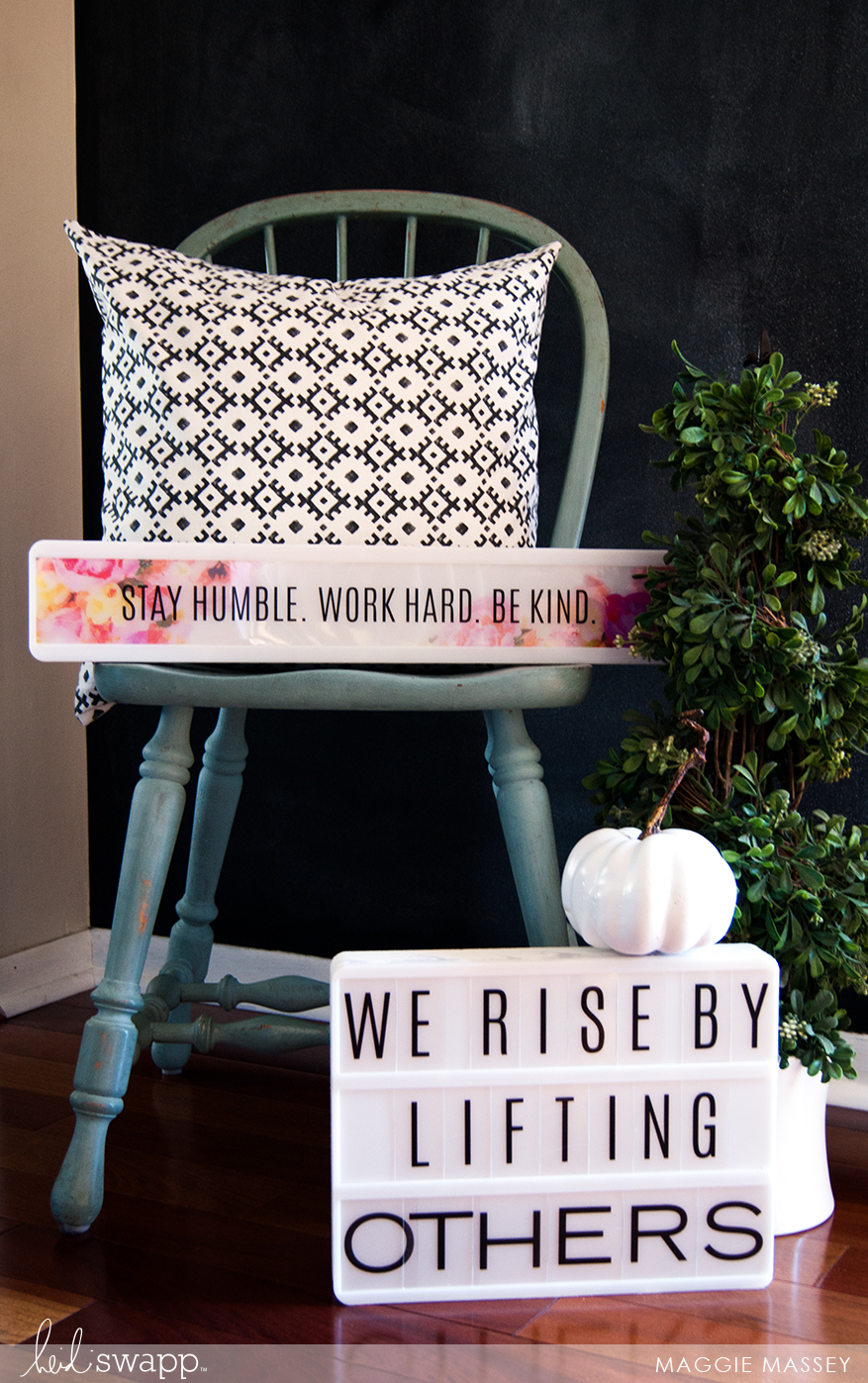 We Rise by Lifting Others lightbox by Maggie Massey for @heidiswapp