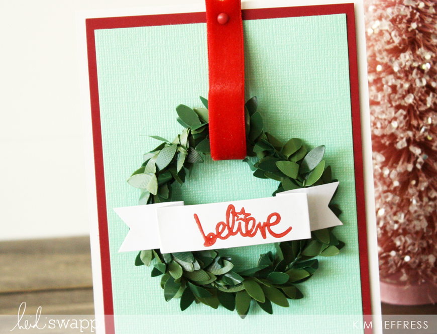 Kim Jeffress for Heidi Swapp DIY christmas cards