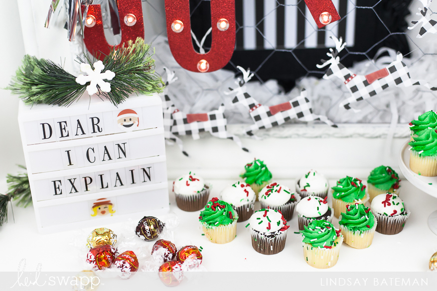 Christmas In Lights Marquee Love Dessert Table Decor I @lindsaybateman for @heidiswapp