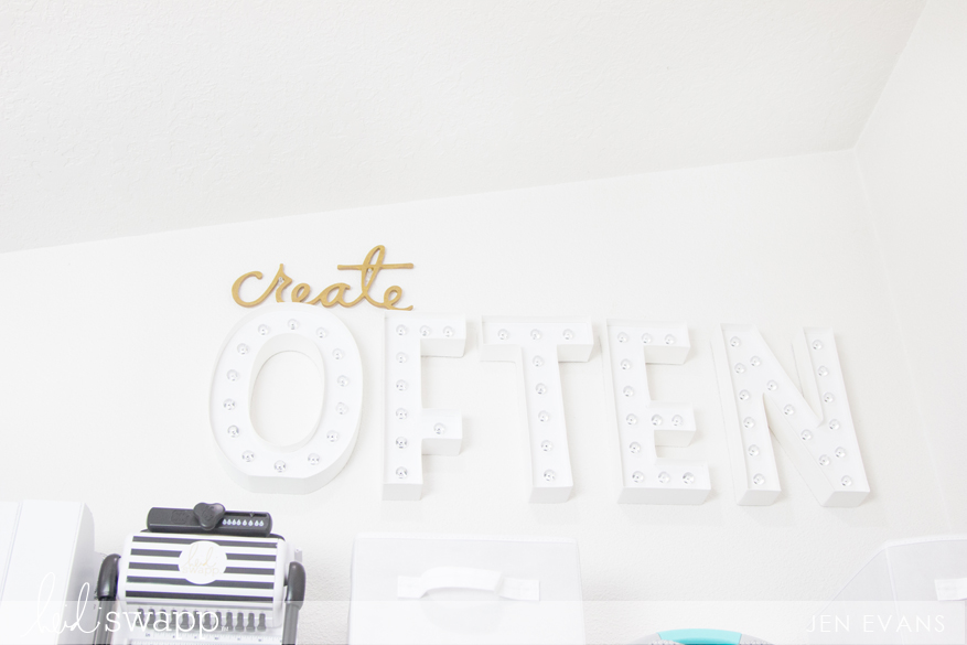 Craft Room marquee decor by @createoften for @heidiswapp