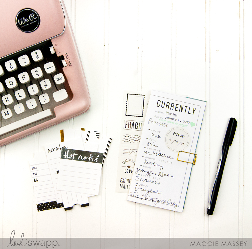 Documenting Your NOW :: Heidi Swapp Time Capsule | @MaggieWMassey for @HeidiSwapp