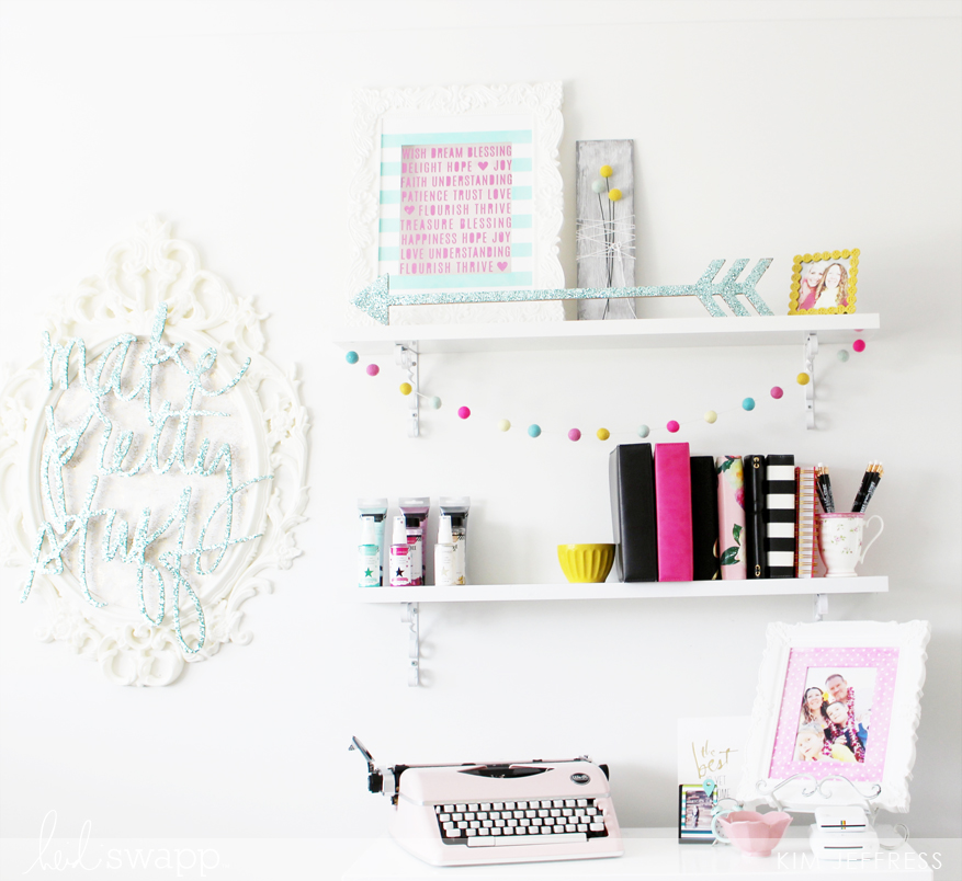 kim Jeffress for Heidi Swapp Craft room decor