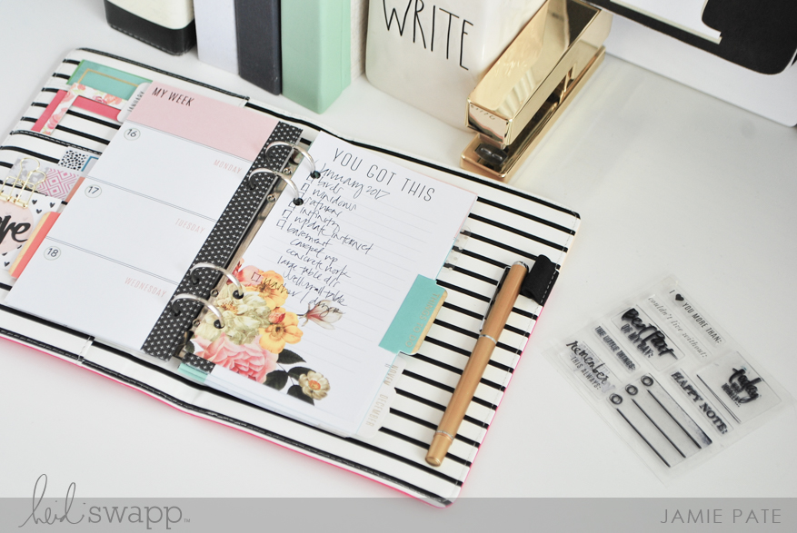 Hard Working Heidi Swapp Memory Keeping Planner by Jamie Pate | @jamiepate for @heidiswapp