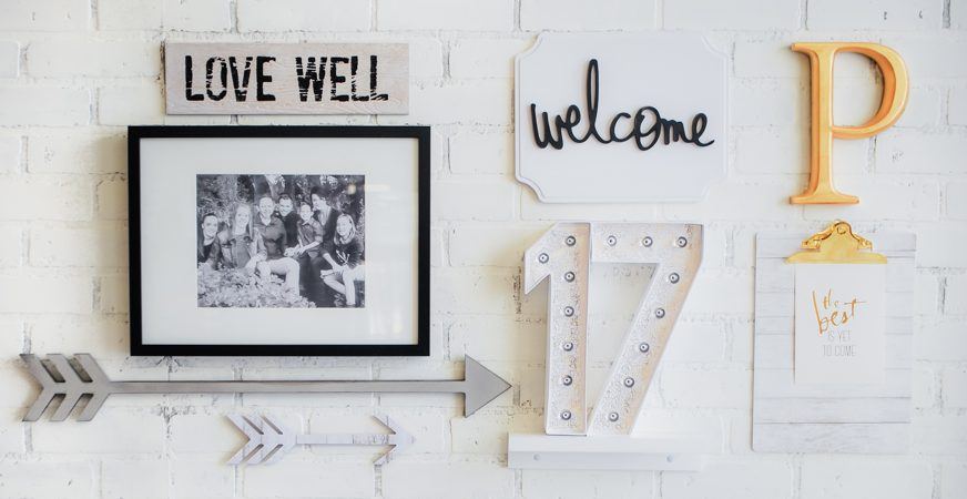 New Year. New Heidi Swapp Gallery Wall Words Home Decor by Jamie Pate | @jamiepate for @heidiswapp