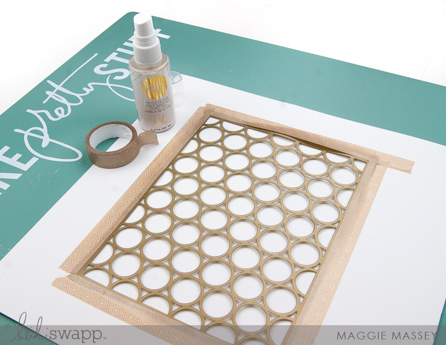 Minc It Monday - Reactive Mist :: Easy Inspirational Wall Art | Maggie Massey for Heidi Swapp