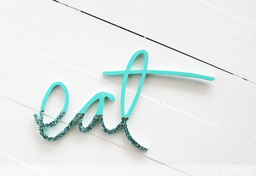 Kim Jeffress for Heidi Swapp Wall Art words