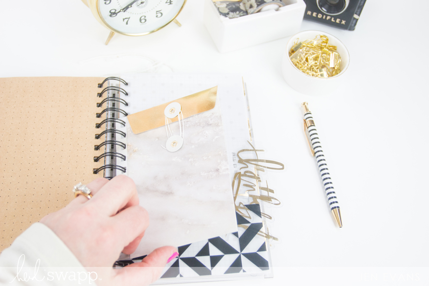 DIY Notebook journal, garden journal made with @heidiswapp Magnolia Jane by @createoften