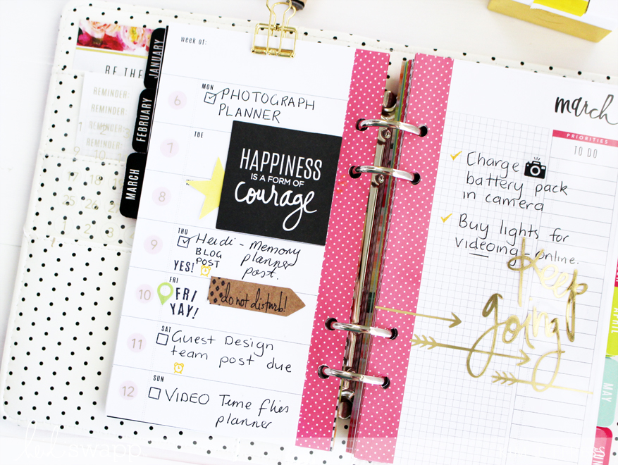 Kim Jeffress for Heidi Swapp Make It Happen Personal Planner