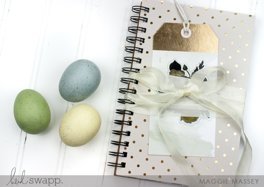 Heidi Swapp Magnolia Jane DIY Notebook :: A fun & easy gift! | Maggie Massey for Heidi Swapp