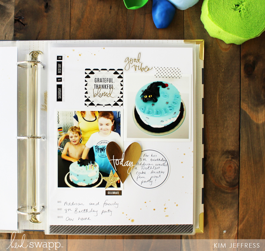 Kim Jeffress for Heidi Swapp Storyliine Birthday album