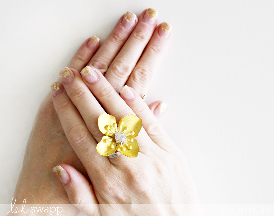 Kim Jeffress for Heidi Swapp Minc nail art