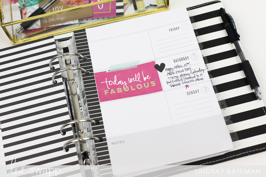 Memory Planner Monthly Reset for April I @lindsaybateman for @heidiswapp