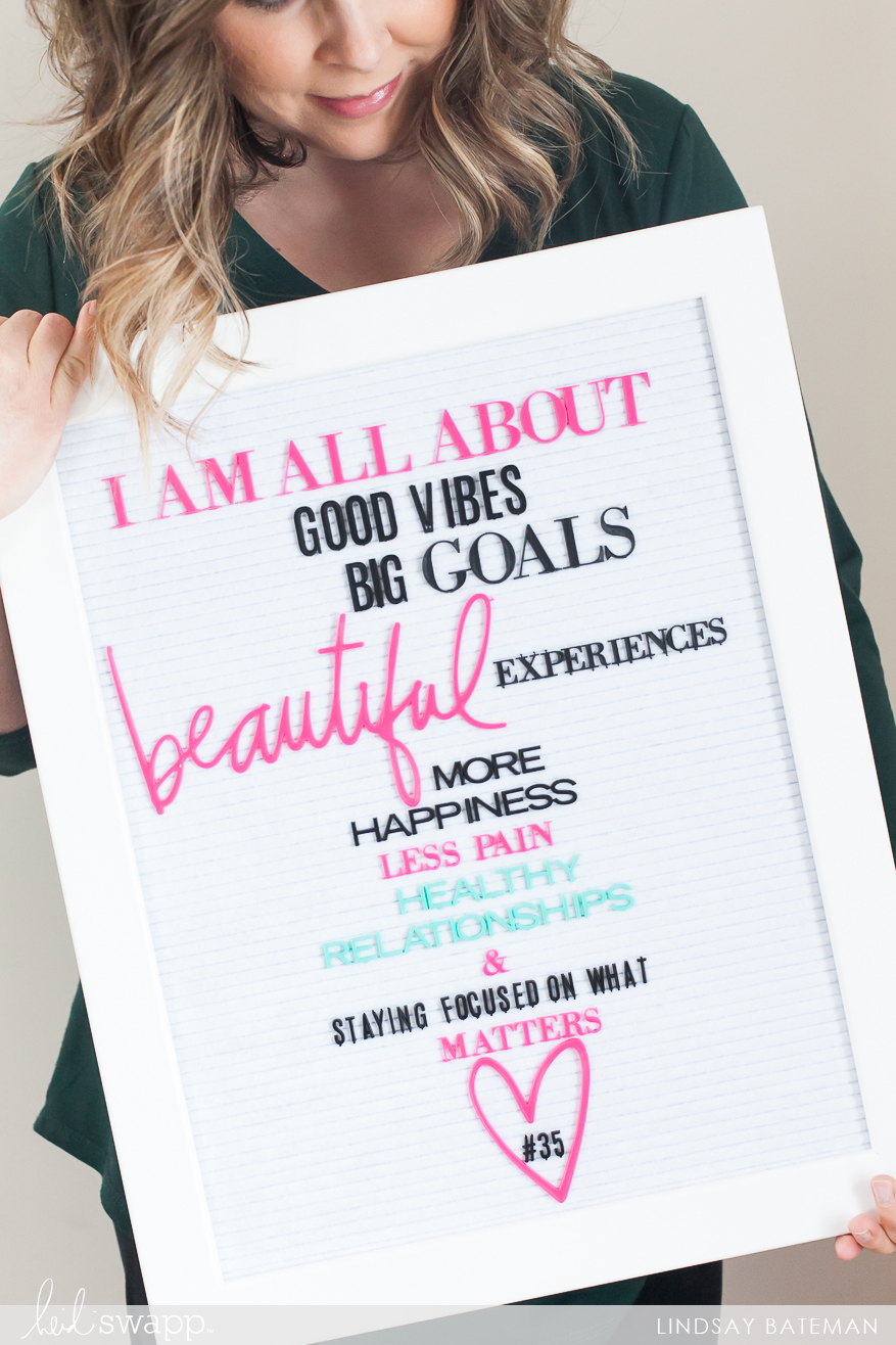 Letterboard Photo Prop I @lindsaybateman for @heidiswapp