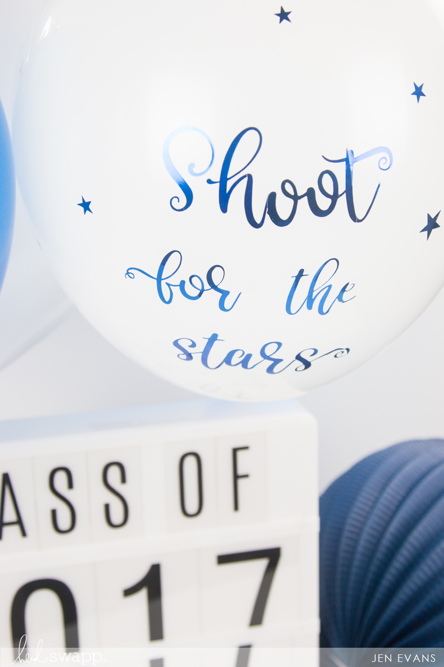 DIY Foiled Graduation Balloons by @createoften for @heidiswapp