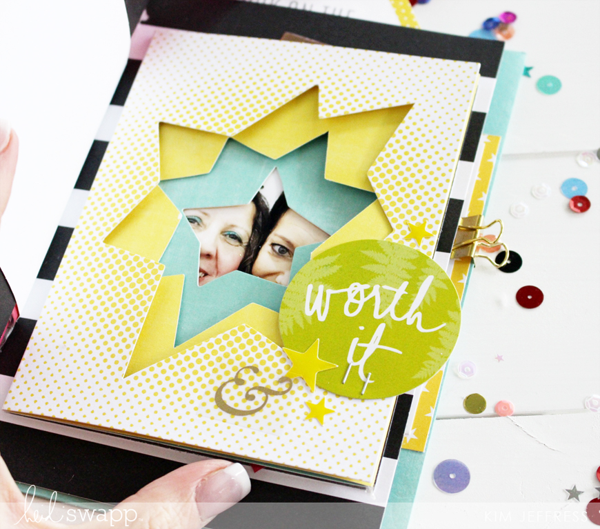 Kim Jeffress for Heidi Swapp Stationery collection mini album