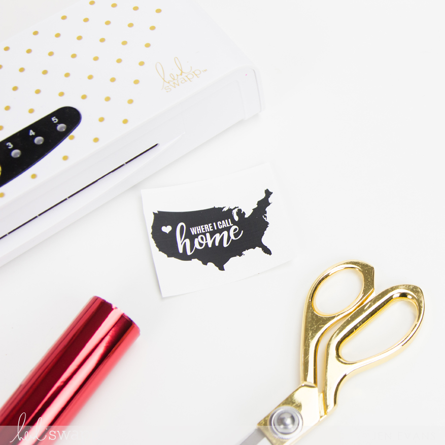 Americana DIY Foiled Stickers by @createoften for @heidiswapp using the Minc Foil Applicator Machine