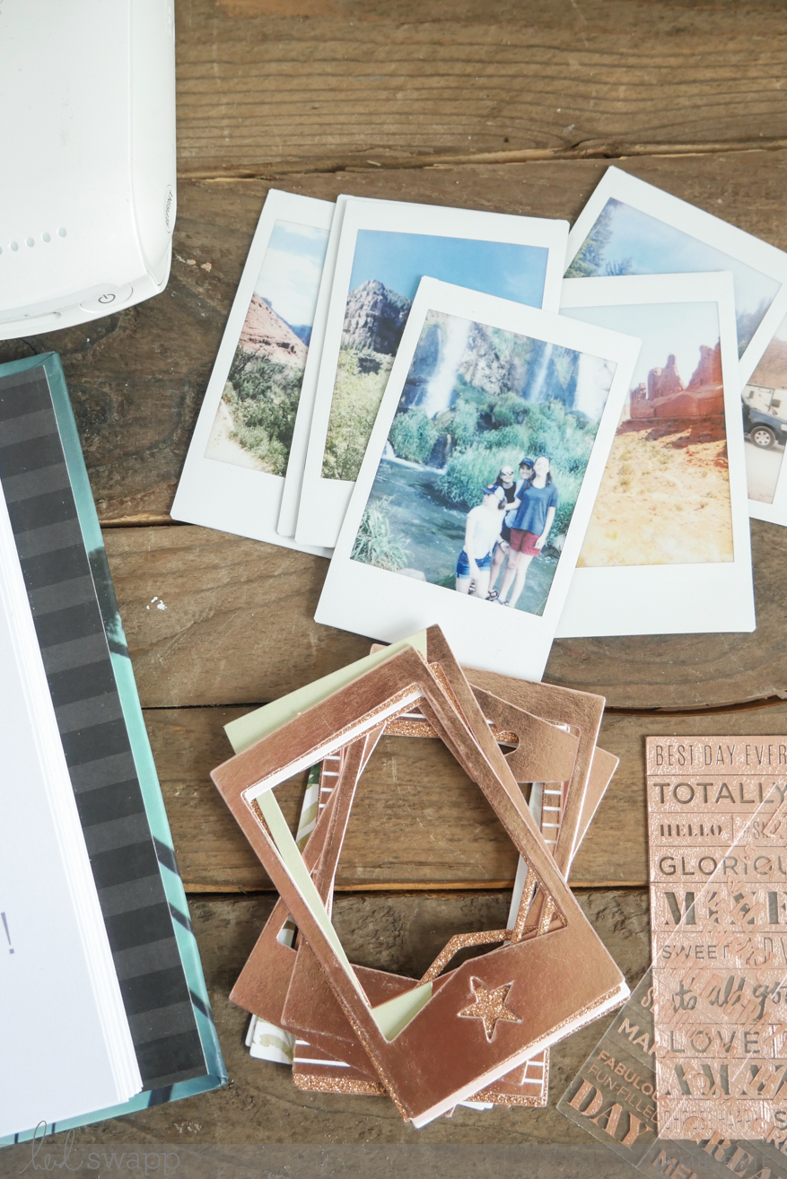 Heidi Swapp Tropical Instax Scavenger Hunt Album by Jamie Pate | @jamiepate for @heidiswapp