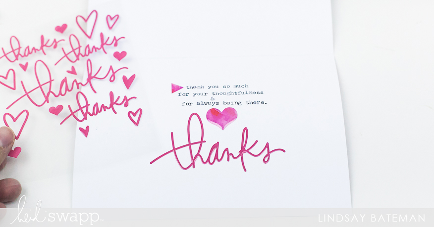 heidi swapp stationery thank you cards I @lindsaybateman for @heidiswapp