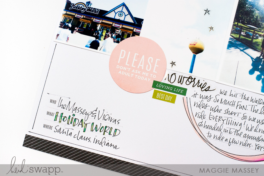 Add your own style while creating from a sketch! :: Heidi Swapp Storyline | Maggie Massey for Heidi Swapp