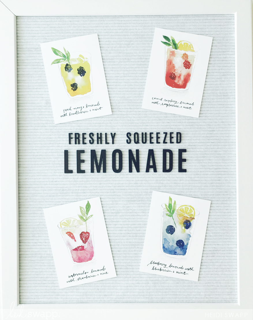 Julianne Hough's Bridal Shower - DIY Lemonade Bar by @heidiswapp