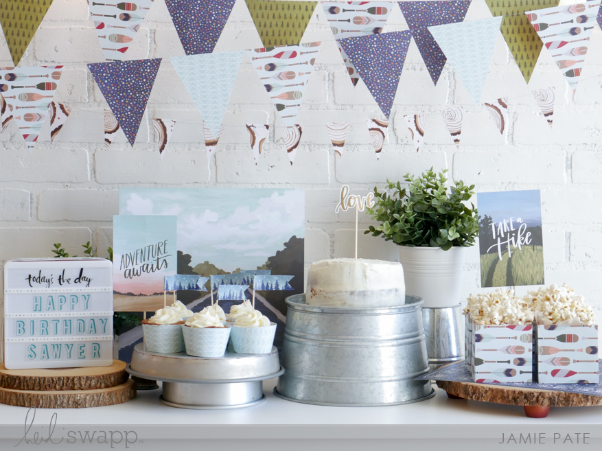 Using a Paper Collection to Party by Jamie Pate for Heidi Swapp | @jamiepate for @heidiswapp