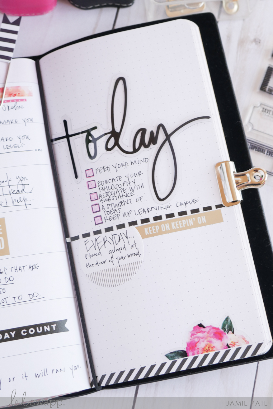 Take a Look At the Heidi Swapp Memory Planner Traveler's Notebook by Jamie Pate | @jamiepate for @heidiswapp