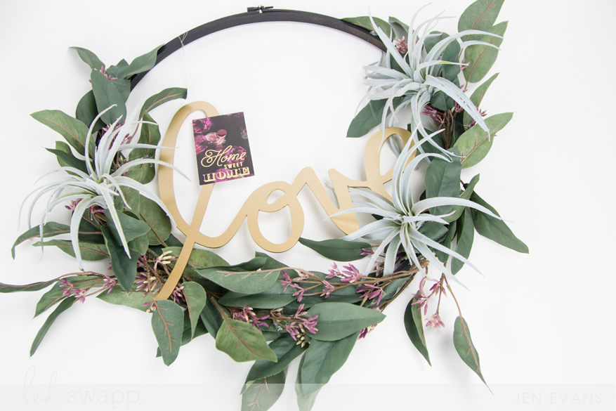 Fuji Film Instax Magnet Love DIY Wreath by @createoften for @heidiswapp