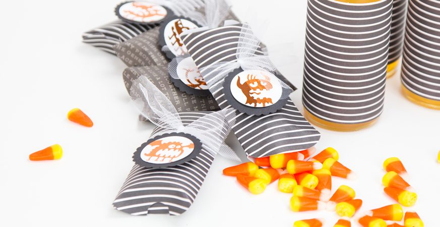 DIY Minc Halloween pillow boxes by @createoften for @heidiswapp