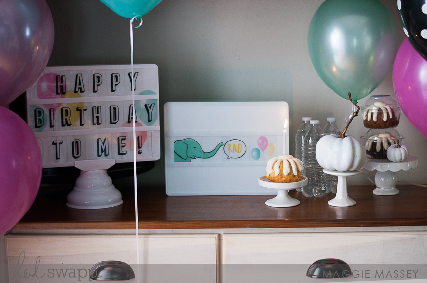Lightbox Birthday Celebration | Maggie Massey for Heidi Swapp