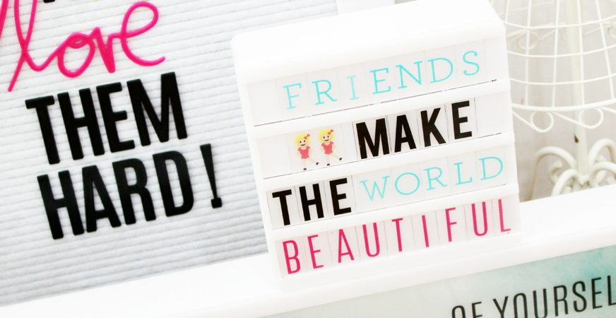 Heidi Swapp letter board and lightbox