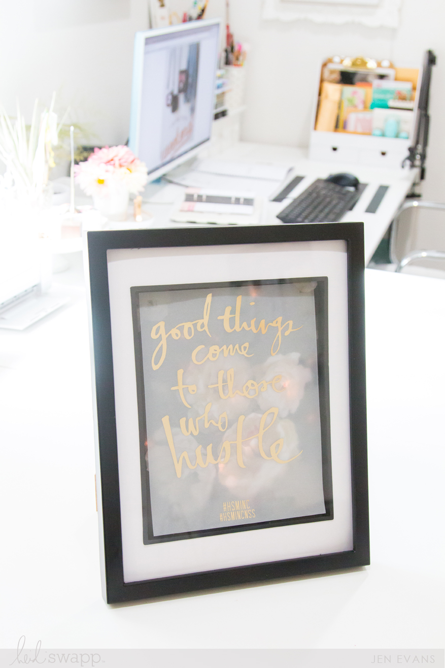 Light-Up Shadow Box using the @heidiswapp Minc Foil Applicator Machine by @createoften