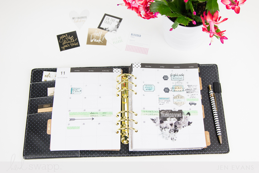 5 Ways to embellish your 2018 Heidi Swapp planner by @createoften for @heidiswapp