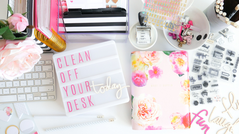 National Clean Off Your Desk Day with Heidi Swapp Lightbox by Jamie Pate| @jamiepate for @heidiswapp