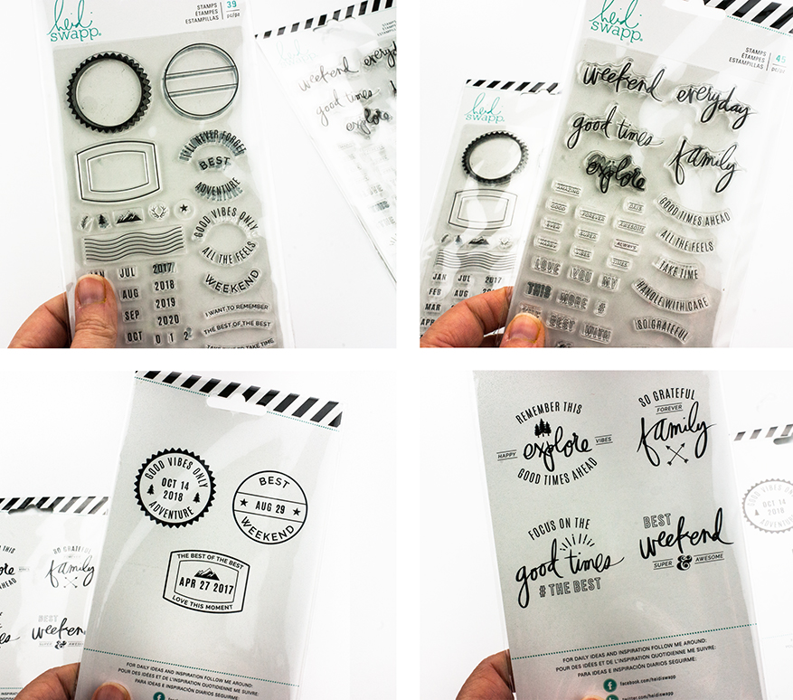 A look at the stamps from the new Hawthorne Collection by Heidi Swapp   Maggie Massey