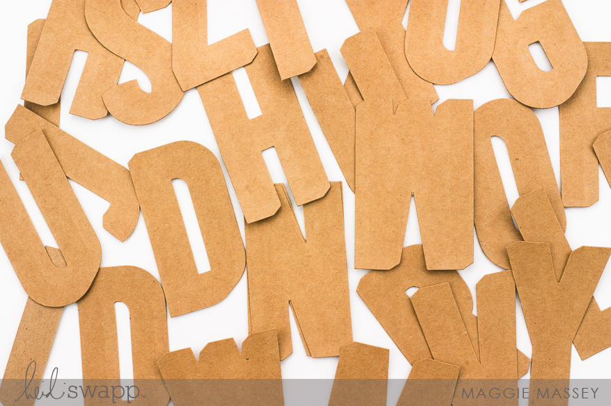 Minc It Monday - A Look at the Jumbo Kraft Letters from the Hawthorne Collection | Maggie Massey for Heidi Swapp