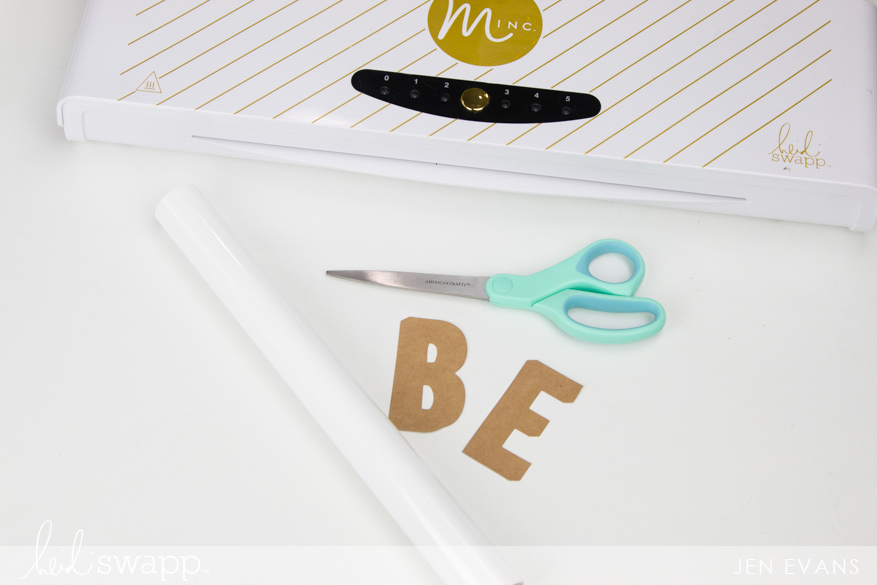 How to customize your scrapbook embellishments with the @heidiswapp Minc by @createoften